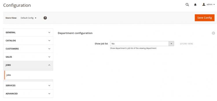 Mettre en place une configuration dans l'admin Magento 2