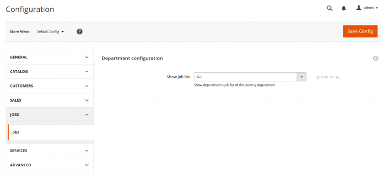 Configuration creation on Magento 2 admin
